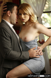 Sultry wife Sahara eagerly arrives at suitor Will's house elegantly dressed 02