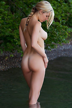 Beautiful Blonde Babe Nude Outdoors
